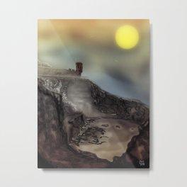 Crail, Fife, Scotland: Digital illustration from Photograph, colour version Metal Print