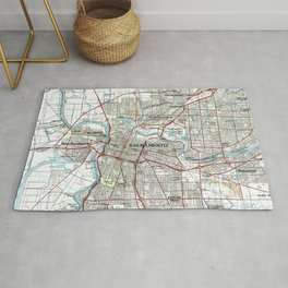 Sacramento California Map (1994) Rug