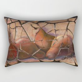 The Pears Fresco With a Crackle Finish #Society6 Rectangular Pillow