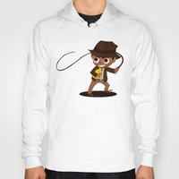 indiana Hoodies featuring Indiana Jones by Delucienne Maekerr