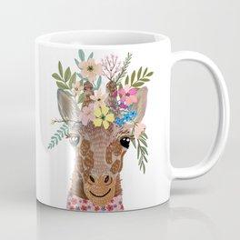 Giraffe with flowers on head Coffee Mug