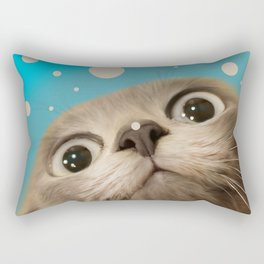 """Fun Kitty and Polka dots"" Rectangular Pillow"
