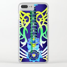 Fusion Keyblade Guitar #200 - Ultima Weapon & Dual Disk Clear iPhone Case