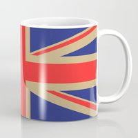 union jack Mugs featuring Union Jack by MeMRB