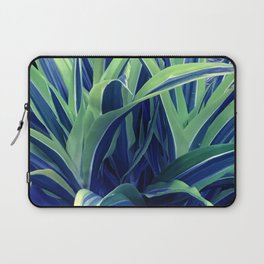 Exotic, Lush Blue and Green Leaves Laptop Sleeve