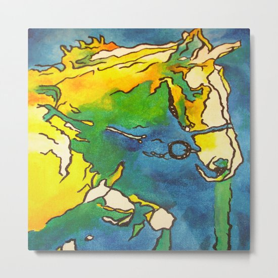 Horse and Bridle Metal Print