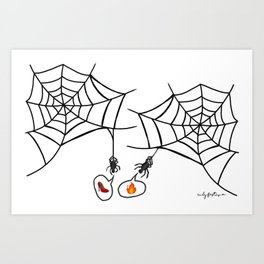 Catching up with friends Art Print