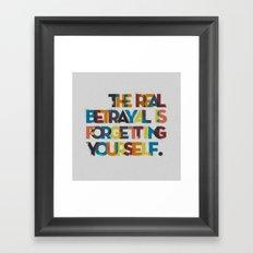 The real betrayal... Framed Art Print