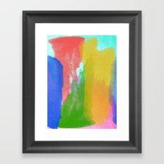 Colorful Paint Framed Art Print