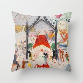 """Florine Stettheimer """"The Cathedrals of Fifth Avenue"""" Throw Pillow"""