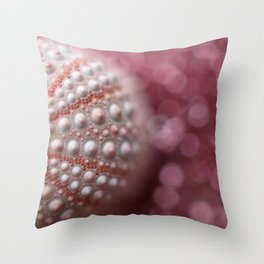 Pink Sea Urchin In The Pink Sea... Throw Pillow