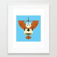 appa Framed Art Prints featuring Yip Yip by Ashley Hay