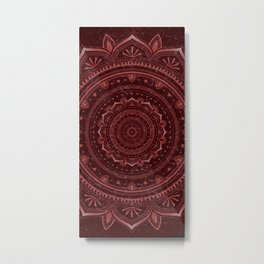 Dark rose glow mandala Metal Print