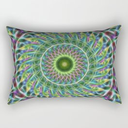 Psychedelic abstract palm frond kaleidoscope Rectangular Pillow