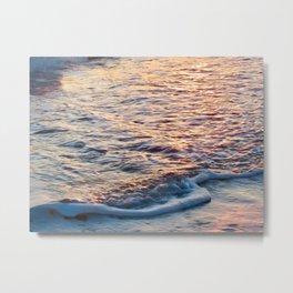 Sea Foam at Sunset 2 Metal Print
