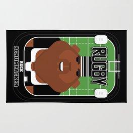 Rugby Black - Ruck Scrumpacker - Hayes version Rug