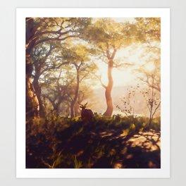 Glimpse of Autumn Art Print