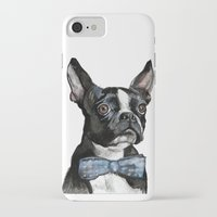 boston terrier iPhone & iPod Cases featuring Boston Terrier by Orestis Lazos