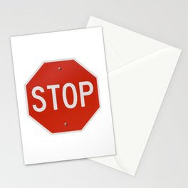 Red Traffic Stop Sign Stationery Cards