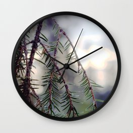 sunset in the woods. Wall Clock