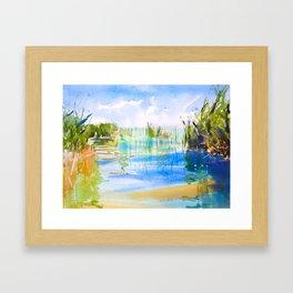 Reeded Lake Framed Art Print