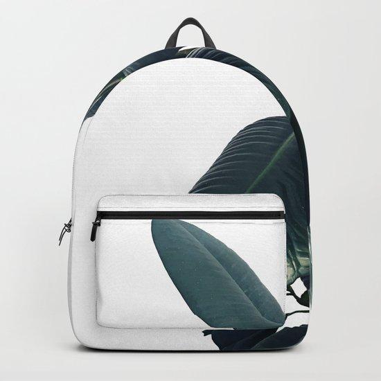 Ficus Elastica #16 #White #decor #art #society6 Backpack