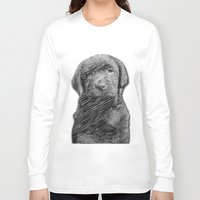 labrador Long Sleeve T-shirts featuring labrador puppy by Necla Karahalil