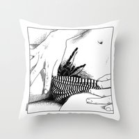 apollonia Throw Pillows featuring asc 472 - L'heure du repas (Feeding time) by From Apollonia with Love