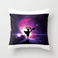 universe Throw Pillows featuring Universe by Lunzury