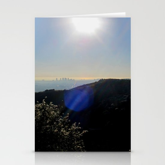 Los Angeles view from Runyon Canyon Stationery Cards