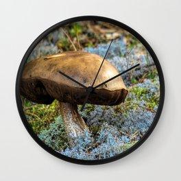 mushroom in swedish forest Wall Clock