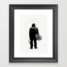 Simply makes you stranger Framed Art Print
