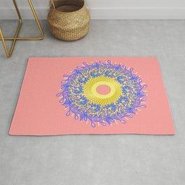 Mandala #105, Peach and Sunshine Rug