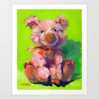 Pink Poink the Pig Art Print