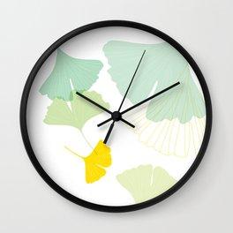 Gingko Leaves Wall Clock