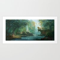 narnia Art Prints featuring Wilderness of Narnia by Jasmine Lee