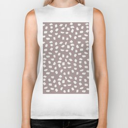 Simply Ink Splotch Lunar Gray on Red Earth Biker Tank