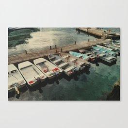 Dinghy Dock Canvas Print