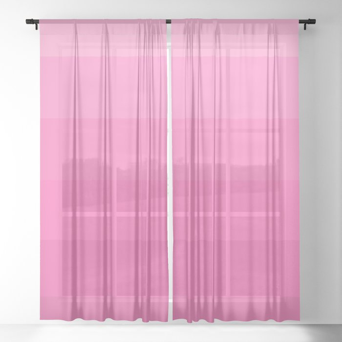 Pink Ombré 1 Sheer Curtain