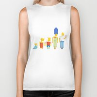 simpsons Biker Tanks featuring  The Simpsons by LOVEMI DESIGN