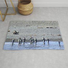 Paddling Penguins Rug
