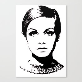 Twiggy Style Modern At Canvas Print