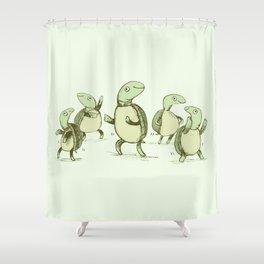 Dancing Turtles Shower Curtain