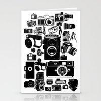cameras Stationery Cards featuring Cameras by Ewan Arnolda