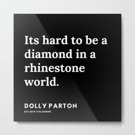 4     191120   Dolly Parton Quotes Metal Print