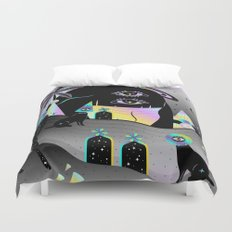 One night on Jupiter Duvet Cover