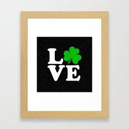 Love with Irish shamrock Framed Art Print