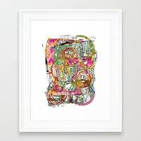 artsy Framed Art Prints featuring Artsy Lines by Ingrid Padilla