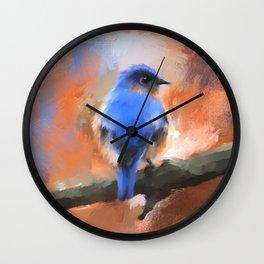 My Little Bluebird Wall Clock