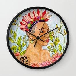 Portrait of Queen Calafia Wall Clock